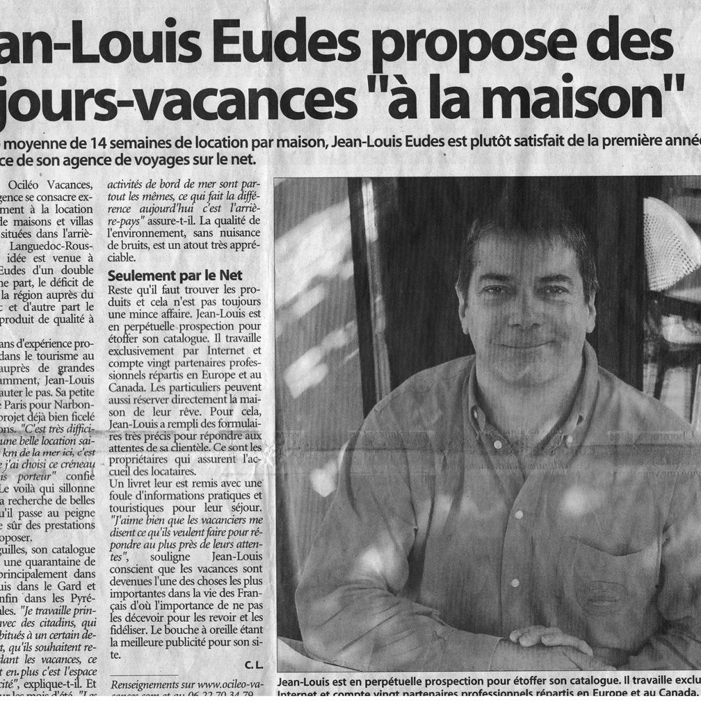 INDEPENDANT 13NOV2006 001 square - La Presse en parle
